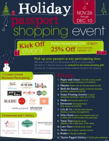 Local Shopping Event Flyer